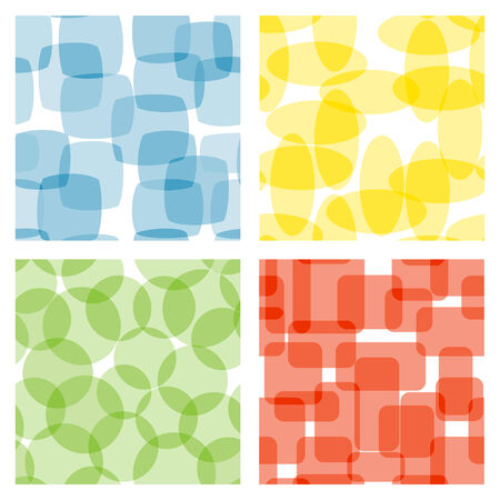halftone: Set of seamless patterns. Vector-Illustration Illustration