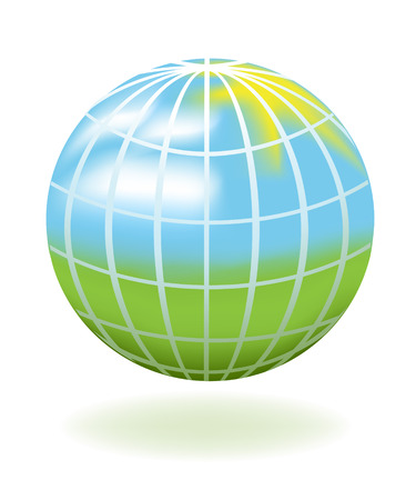 recycle symbol vector: Globe as a landscape. Vector-Illustration