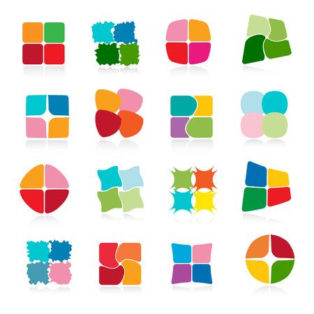 Conjunto de iconos. Ilustración de vector