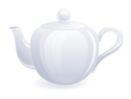 savoury: Isolated teapot. Vector-Illustration