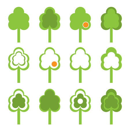 Set of plant icons. Vector-Illustration Vector