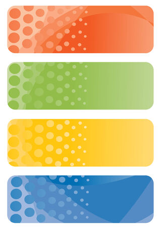 Set of abstract banners. Vector-Illustration Vector