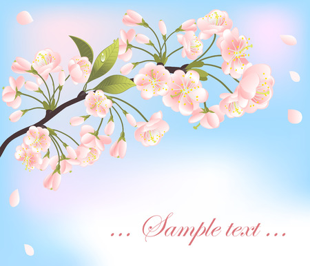 Background with sakura tree. Vector-Illustration Stock Vector - 4723209