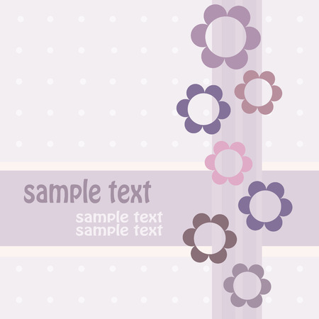 Greeting card in pink. Vector-Illustration Vector