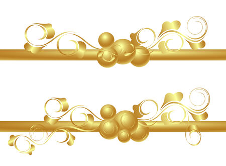 Design elements in gold. Vector-Illustration. Vector