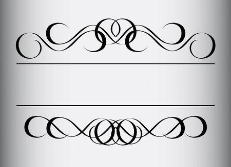 Frame in vintage style. Symmetric inward. Vector Illustration Stock Vector - 4795733