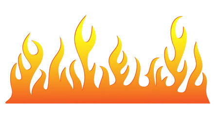 hell: Silhouette of burning fire flame. Vector-Illustration Illustration
