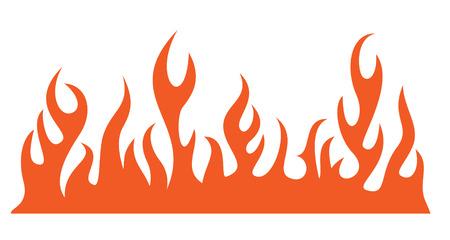 Silhouette spalania płomień ognia. Ilustracji wektorowych