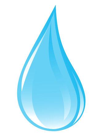 Clear water drop. Vector-Illustration Vector