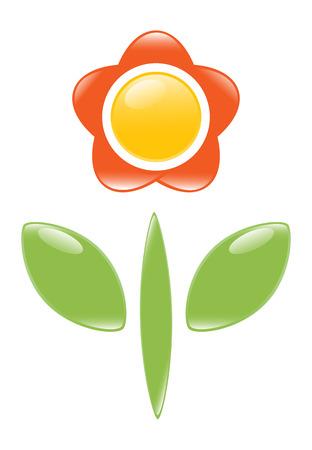 Icon of blossom. Vector-Illustration Vector