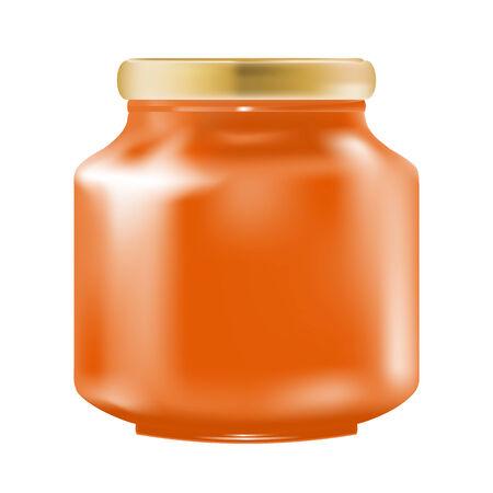marmalade: Confettura di vetro. Vector-Illustration