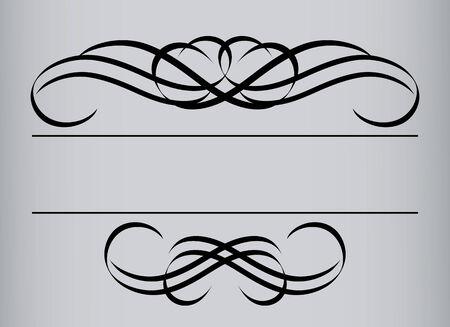 Ramki w stylu archiwalne. Symetryczne czynnego. Ilustracja wektora