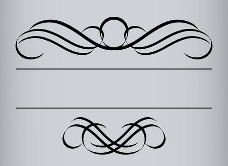 Frame in vintage style. Symmetric inward. Vector Illustration Vector