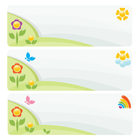 Set of landscape banner. Vector-Illustration Stock Vector - 5180054