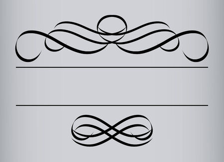 Frame in vintage style. Symmetric inward. Vector Illustration Stock Vector - 5180049