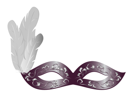 carnival costume: Carnival mask with feathers. Illustration Illustration