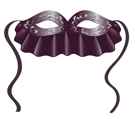 carnival costume: Carnival mask in black.Illustration Illustration