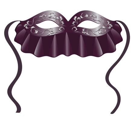 Carnival mask in black.Illustration Stock Vector - 6251986