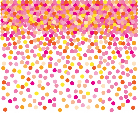 Pink confetti background.  Illustration