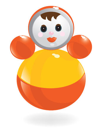 tilting: Roly-Poly doll, tilting, wobbles doll. Vector-Illustration