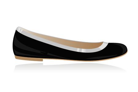Classical women shoe, ballerina, flat  Stock Vector - 7386513