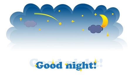 Banner of night-sky.  Illustration Stock Vector - 7700487