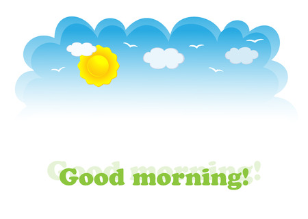 good weather: Banner of day-sky. Vector-Illustration Illustration