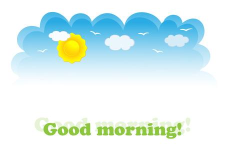 Banner voor dag-sky. Vector illustratie Vector Illustratie