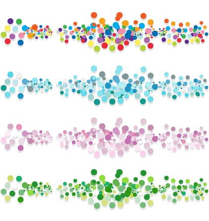 Set of abstract confetti-banners. Vector-Illustration Vector
