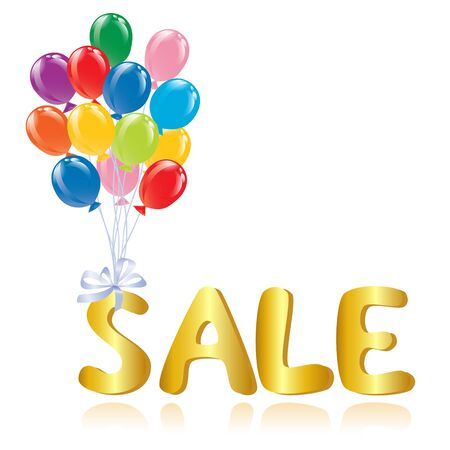 Sale message with ballons. Vector-Illustration Stock Vector - 11882351