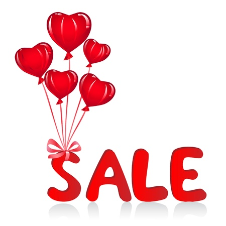 Sale message with ballons. Vector-Illustration Vector