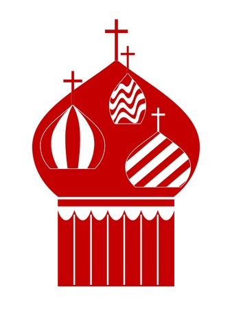Domes of Orthodox Cathedral Temple. Vector-Illustration Vector