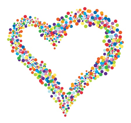 elegant couple: Confetti heart on isolated white background. Vector-Illustration Illustration