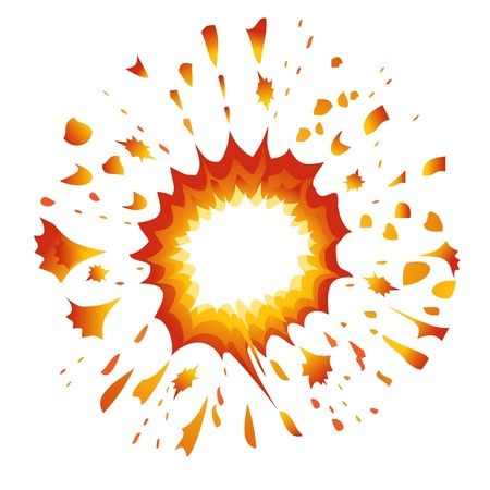 dinamita: Explosi�n. Vector-Ilustraci�n