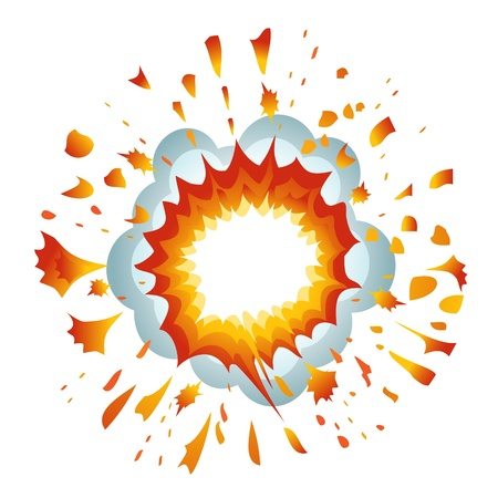 Explosion. Vector-Illustration Vector