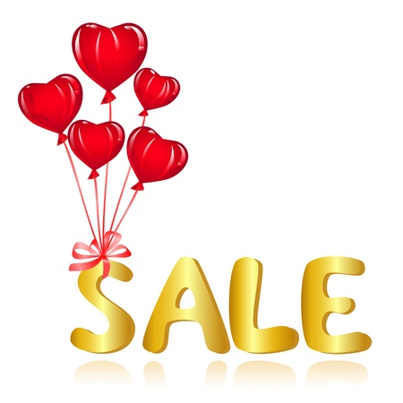 Sale message with balloons. Vector-Illustration Vector