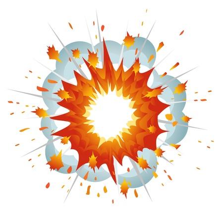 bombe: Explosion. L'illustration vectorielle