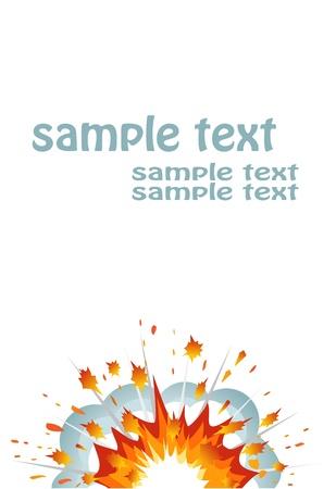 Explosion banner. Vector-Illustration Stock Vector - 11882376