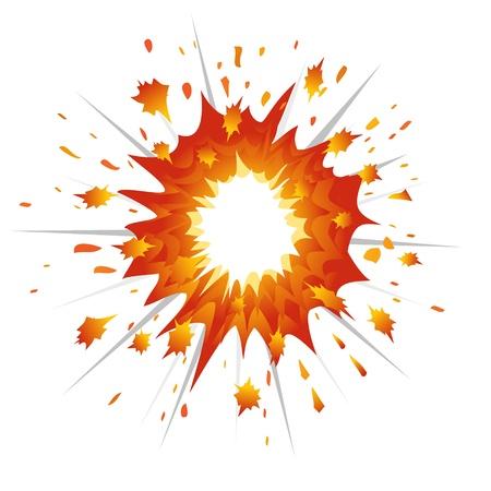 Explosion. L'illustration vectorielle