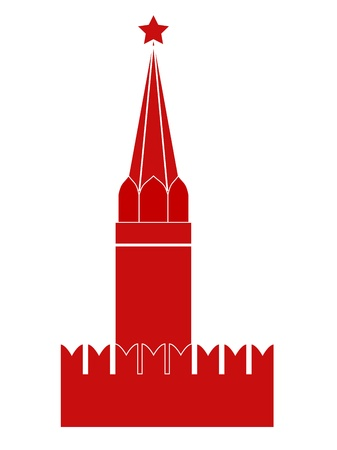 kremlin: Moscow Kremlin Tower. Vector-Illustration