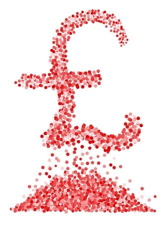 sterlina: Confetti simbolo sterlina isolato su sfondo bianco. Vector-Illustration