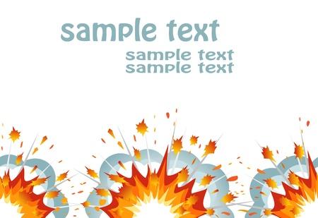 detonated: Explosion seamless banner. Vector-Illustration Illustration