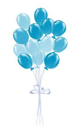 Bunch von Luftballons in den traditionellen Farben der Bayern.