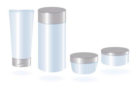 lotion: Set of cosmetic container templates.