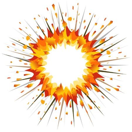 Explosión. Ilustración de vector