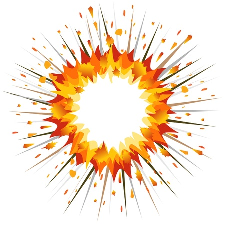 Explosion. Illustration