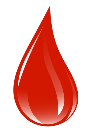 donations: Blood drop. Illustration