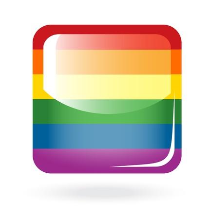 sexualidad: Rainbow botón Vectores