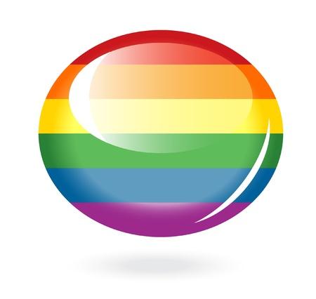 ellipses: Rainbow button Illustration