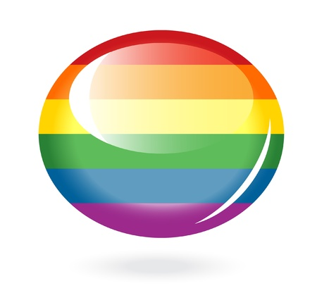 gay pride rainbow: Rainbow button Illustration